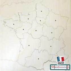Puzzle Montessori Carte de France Nouvelles Régions