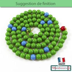 Perles pour la chaine de 100 aux couleurs hiérarchiques en bois
