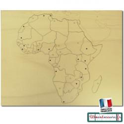 Carte Puzzle en bois Afrique