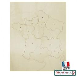 Carte Puzzle France en bois