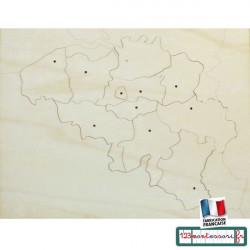 Carte Puzzle Belgique en bois