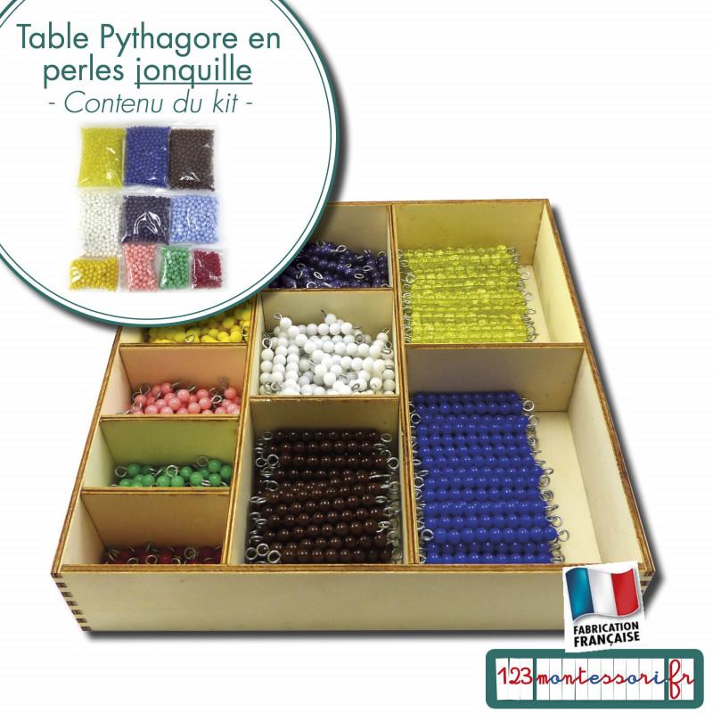 Boite pour la table de Pythagore Montessori en perles