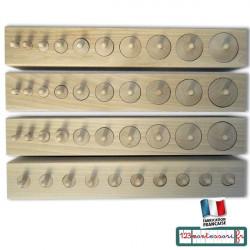 Emboîtements Cylindriques Montessori en hêtre