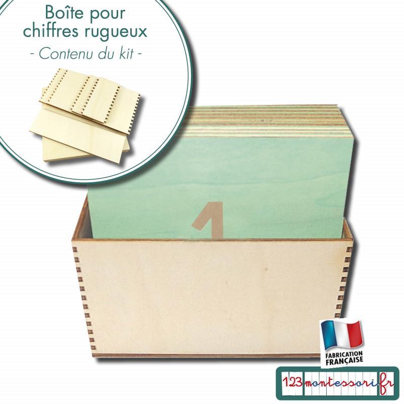 Chiffres rugueux Montessori en kit