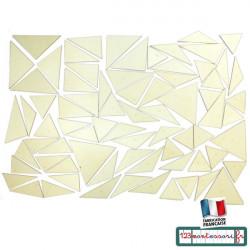 Triangles constructeurs Montessori en bois