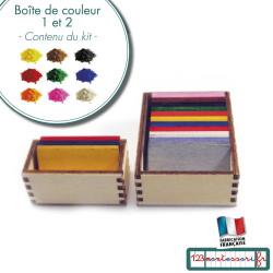 Boites de couleur 1 et 2