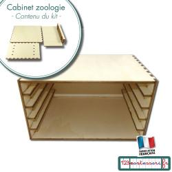 Cabinet pour ranger les puzzles de zoologie en kit