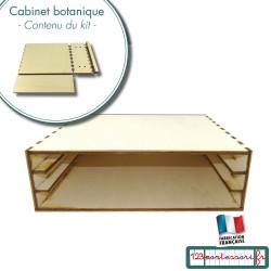 Cabinet pour ranger les puzzles de botanique en kit