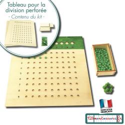 Compter avec Montessori : Tableau de la Division perforée Montessori