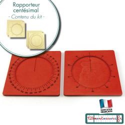 Rapporteur et cercle Centésimal Montessori en kit