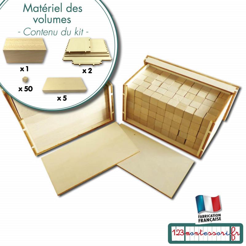Matériel des volumes : prismes, plaques et cubes