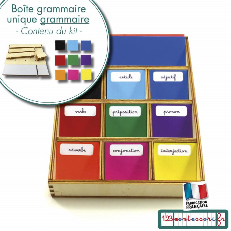 Boite de grammaire unique Montessori