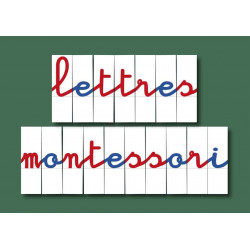 Lettres mobiles pour Montessori : jeu de 270 lettres imprimées