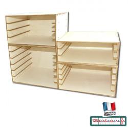 Cabinet pour ranger les puzzles Montessori en kit
