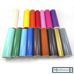 Adhésif couleur pour stickers personnalisés (vinyle)