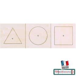Puzzles Montessori : puzzles pour le cabinet de géométrie