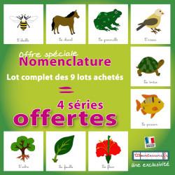 Lot complet des nomenclatures zoologie et botanique