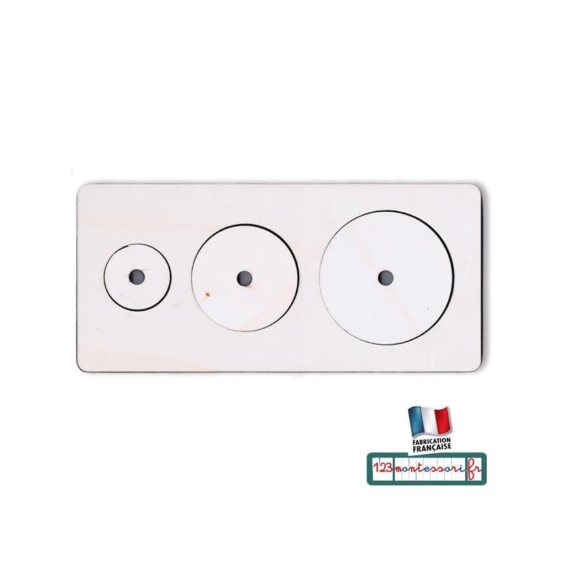 Puzzle Montessori premier âge ou nido 3 cercles