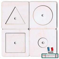 Puzzles Montessori premier âge ou nido par 4
