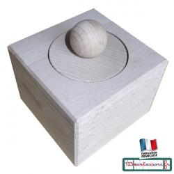 Emboîtement Cylindrique Montessori en hêtre pour tout petits