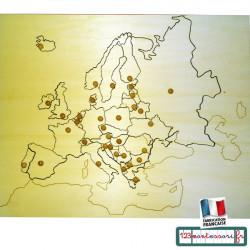 Puzzle Montessori carte de l'Europe