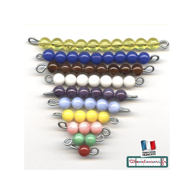 Perles Montessori pour l'escalier coloré