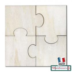 Puzzle en 4 pièces identiques type Montessori