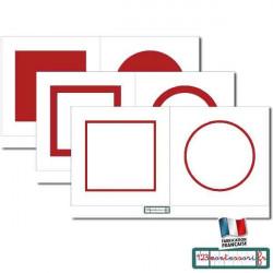 Carte pour le cabinet de géométrie rouge