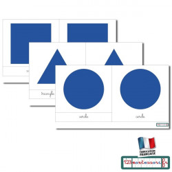 Carte pour le cabinet de géométrie (cursive bleu)