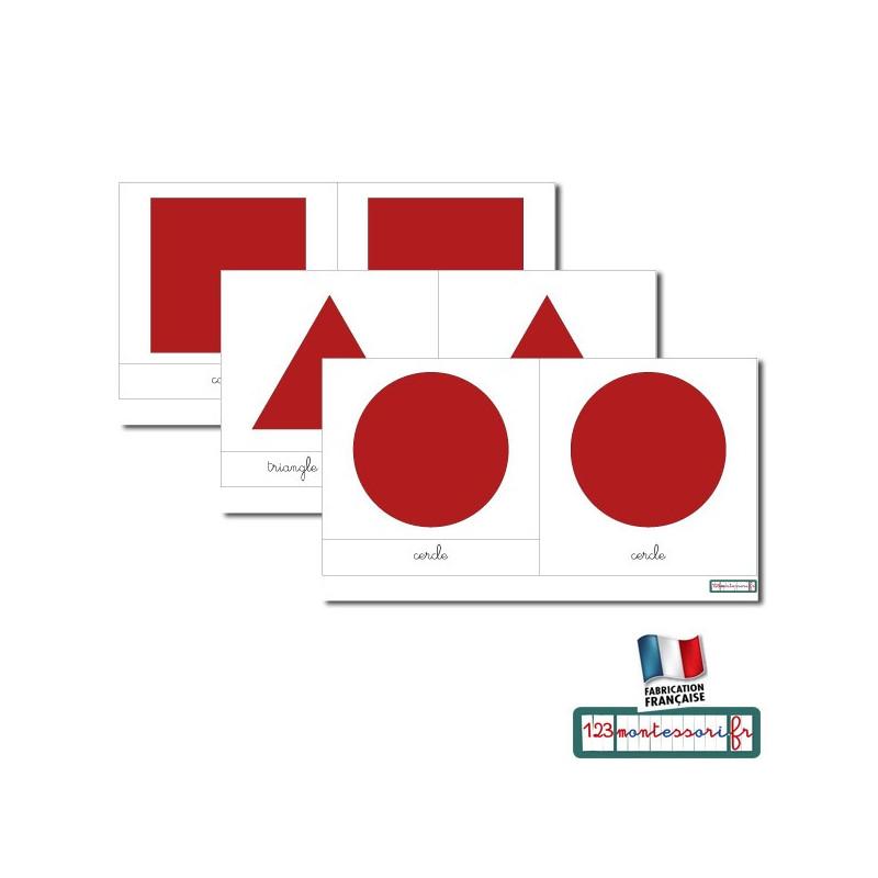 Vocabulaire du cabinet de géométrie cursive rouge