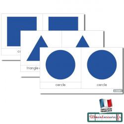 Carte pour le cabinet de géométrie (scripte bleu)