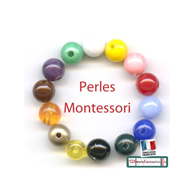 Perles Montessori par 100 (diamètre 0.7 cm)