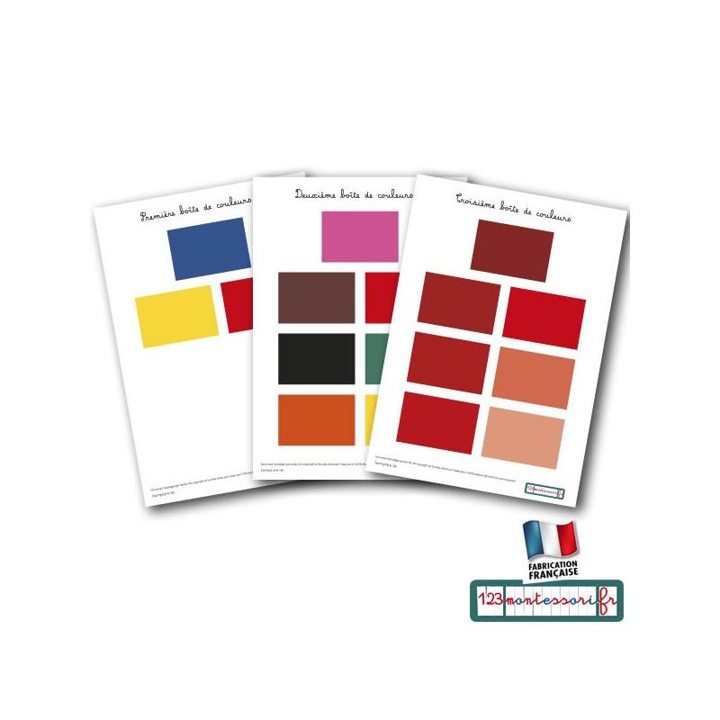 Nuancier pdf pour les 3 boites de couleur