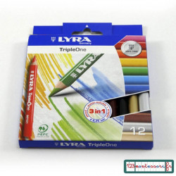 Triple one de Lyra 12 crayons de couleur alternative au feutre velleda