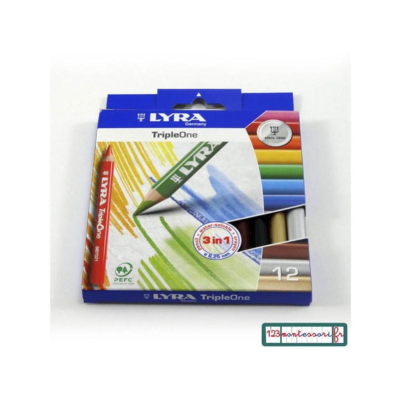 Triple one de Lyra 12 crayons de couleur