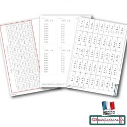 Mémorisation de l'addition : billets et tables (pdf)