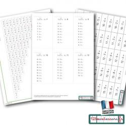 Mémorisation de la soustraction : billets et tables