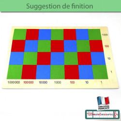Feutrine pour damier de  la multiplication