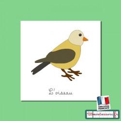 Oiseau livret et images pour nomenclatures