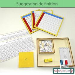 Apprendres les tables de multiplication avec Montessori : mémorisation de la multiplication
